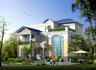 China Prefabricated House, Prefabricated Rural Villa With Light Steel Frame factory